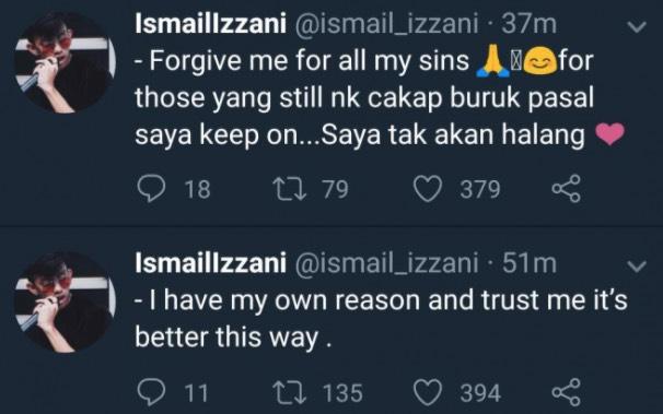 Kantoi Curang 6 Kali, Ismail Izzani Mohon Maaf