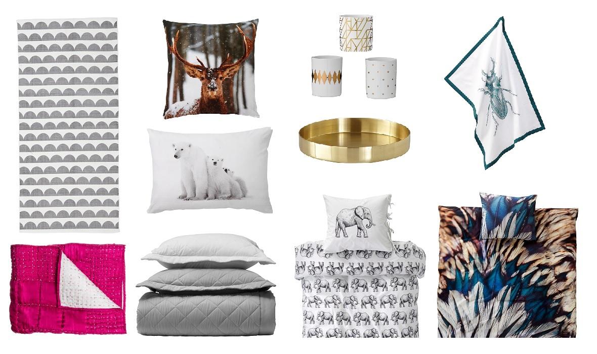 muuttaminen, koti, sisustus, ellos, matto, tyynyt, pyyhe, eläimet, kynttilät, vati, astiat, pussilakanat, bloggaja, kollaasi, osta