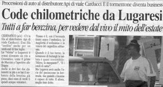 Articolo di giornale Lugaresi benzinaio