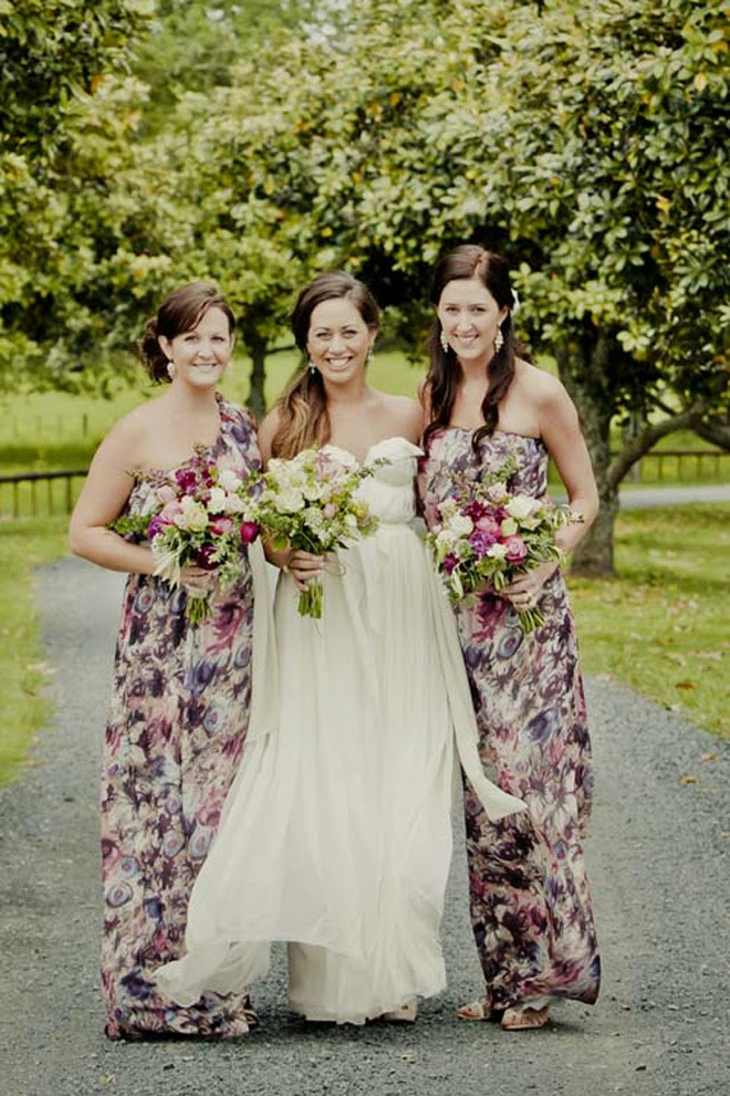 {Wedding Trends} : Floral Bridesmaid Dresses - Belle The ...