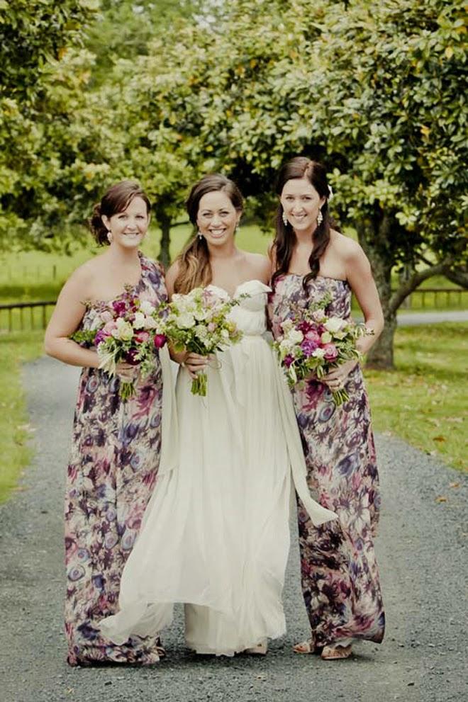 Wedding Trends  Floral Bridesmaid Dresses  Belle The Magazine