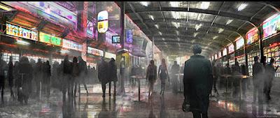 primera imade del arte conceptual de Blade Runner Sequel
