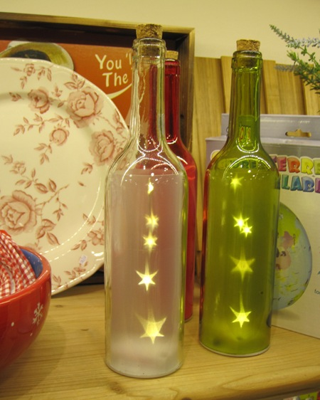 Botellas luminosas