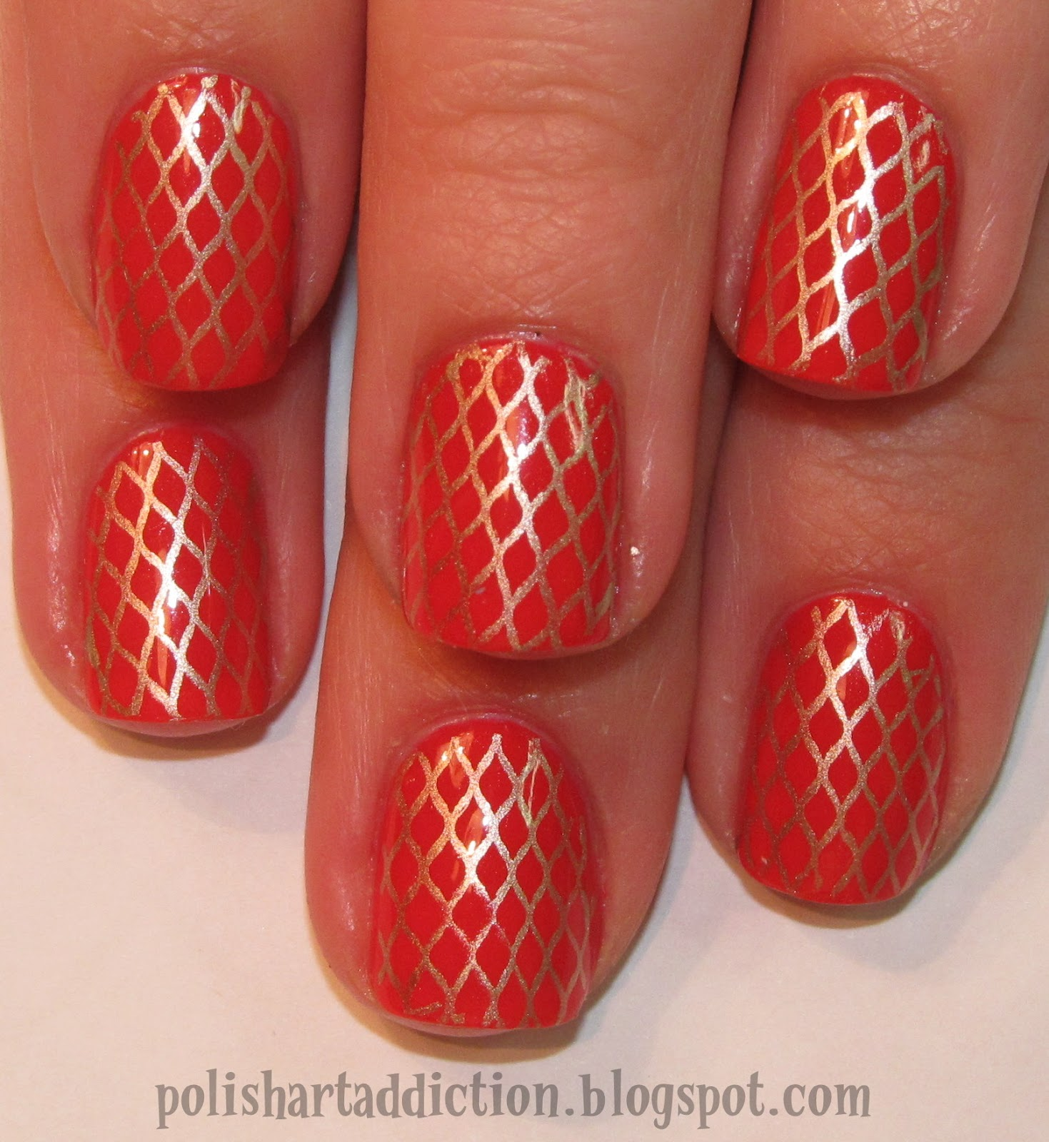 Gilded Coral Gridwork