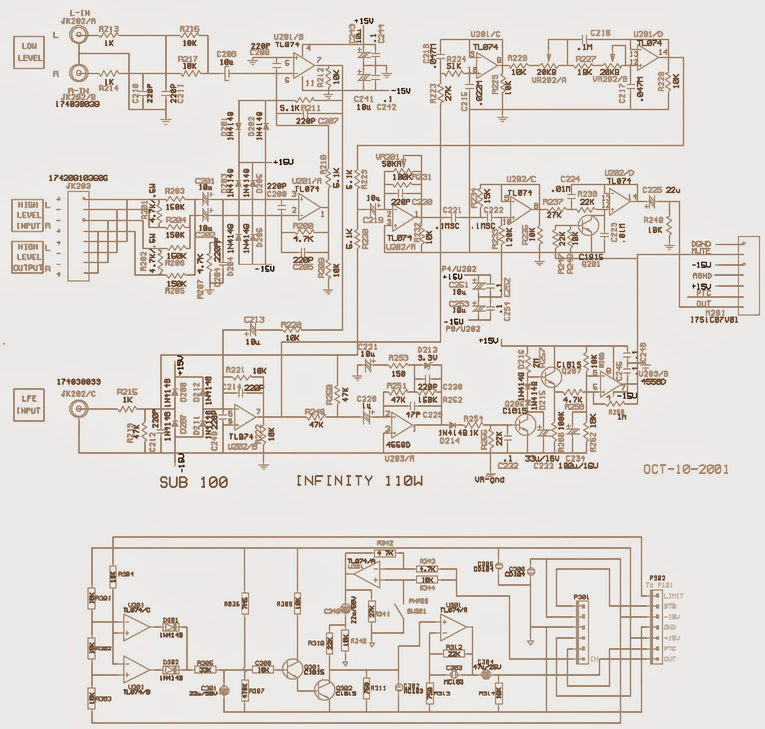 100w subwoofer amplifier circuit diagram ford truck trailer wiring working and