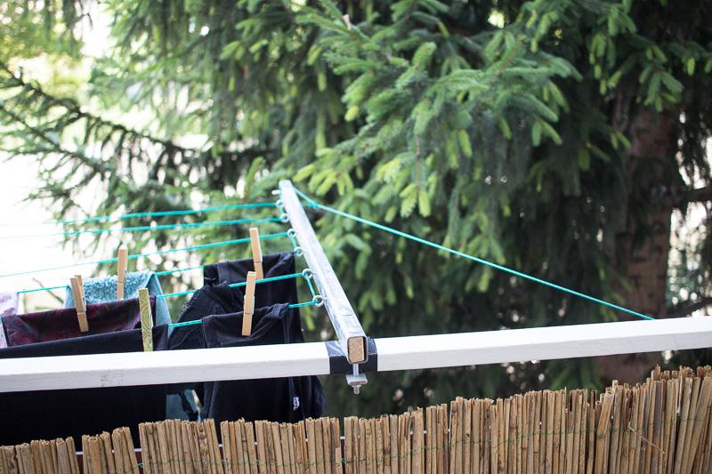 DIY Aufhängung für Wäscheleine - Spannseile