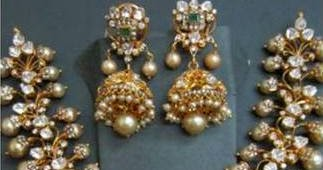 Kundan Broad Pachhi Necklace Jewellery Designs