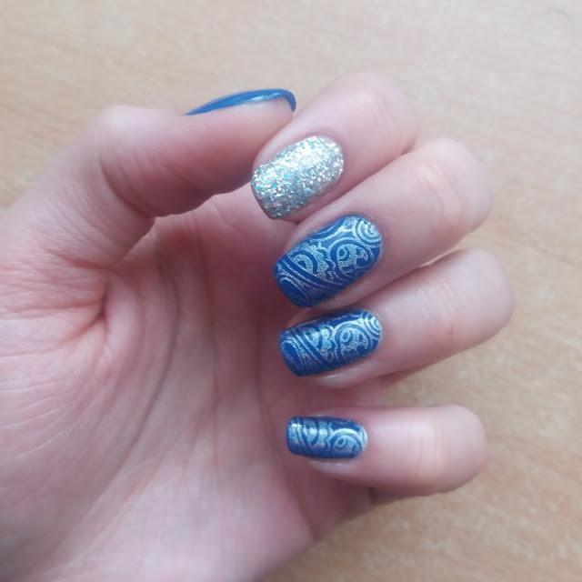 Niebieskie z holo stemplami