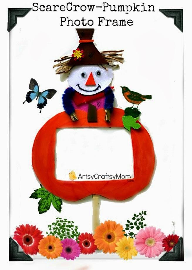Scarecrow pumpkin photo frame2