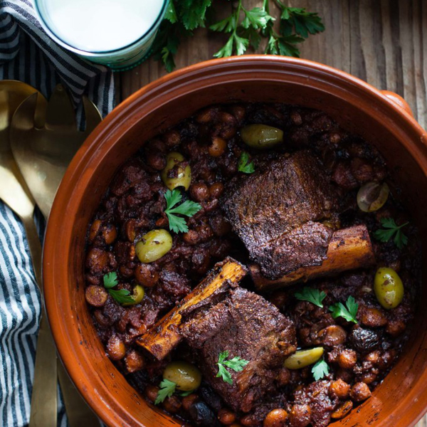 Braised Short Rib Tagine with Figs & Almonds {for two} by Snixy Kitchen