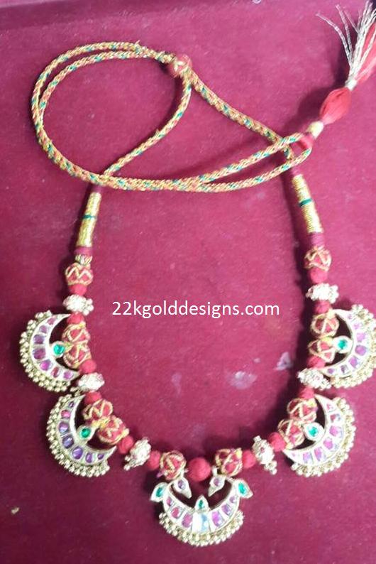 Designer Red Dori Necklace