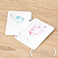 DIY Watercolour gem journaling cards tutorial