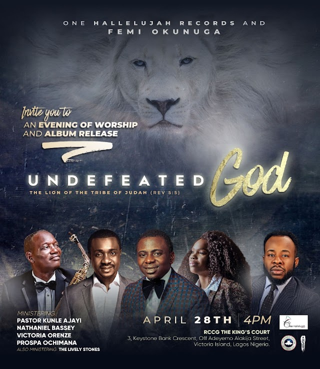 "Event: Femi Okunuga To Launch Sophomore Album ""Undefeated God"" [@femiokunuga]"