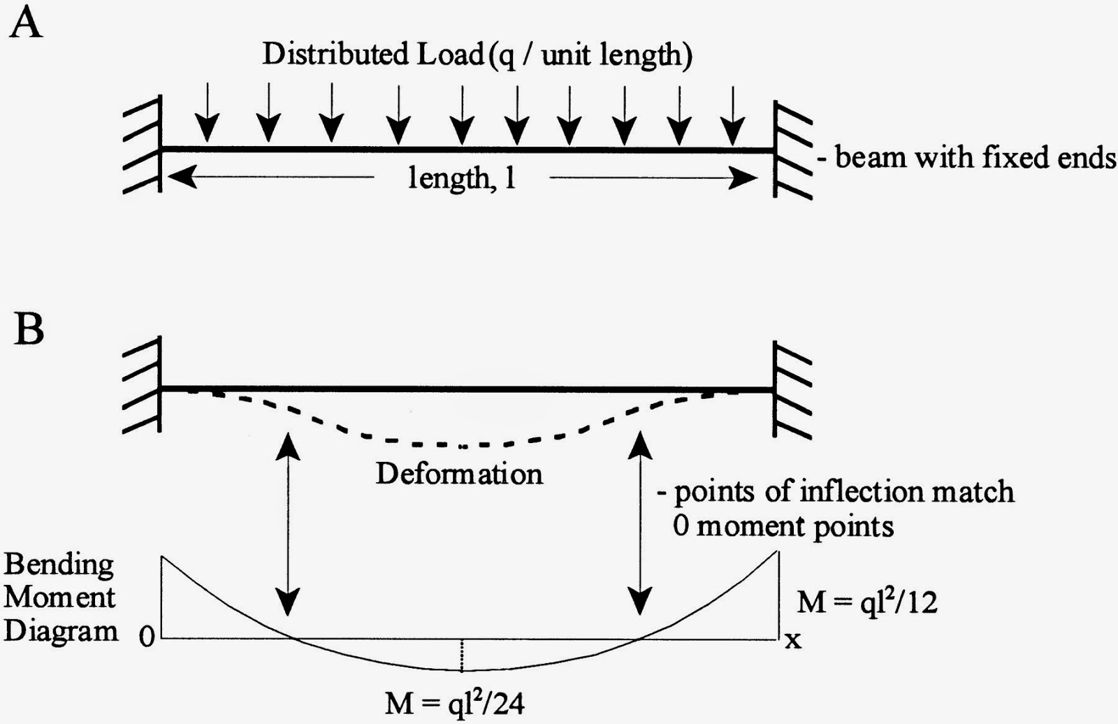 The Elastic Bending Effect Draw Shear Force And Moment Diagrams For Beam Shownin Point Of Inflection