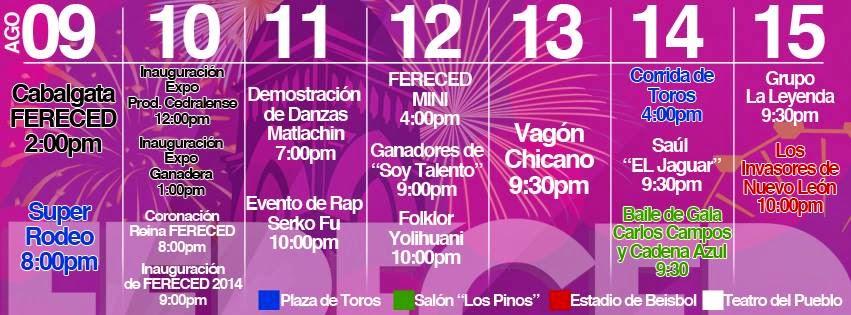 bailes feria cedral 2014