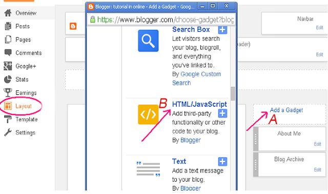 Add Social Followers Gadget in Blogger