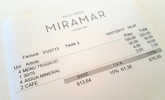 Miramar Paco Perez precio