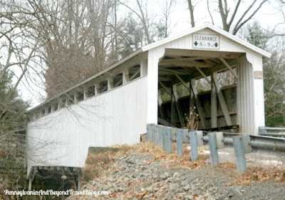Banks Covered Bridge located in Volant Pennsylvania