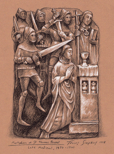 Martyrdom of St Thomas Becket. Late Medieval. The British Museum. by Travis Simpkins