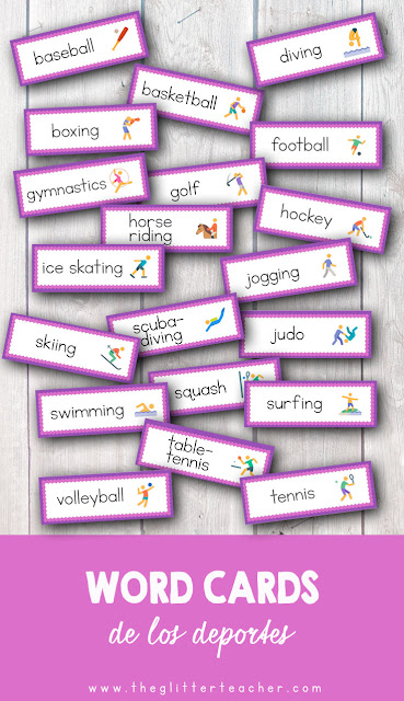Free Printable Sports Picture word cards