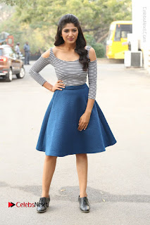 Telugu Actress Roshini Prakash Stills Short Dress at Saptagiri Express Release Press Meet  0238.JPG