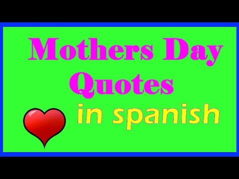 Short and cute spanish Mothers day sayings versus for greeting cards