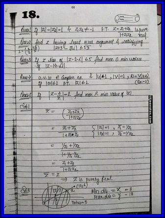 iitjee notes on complex number 18