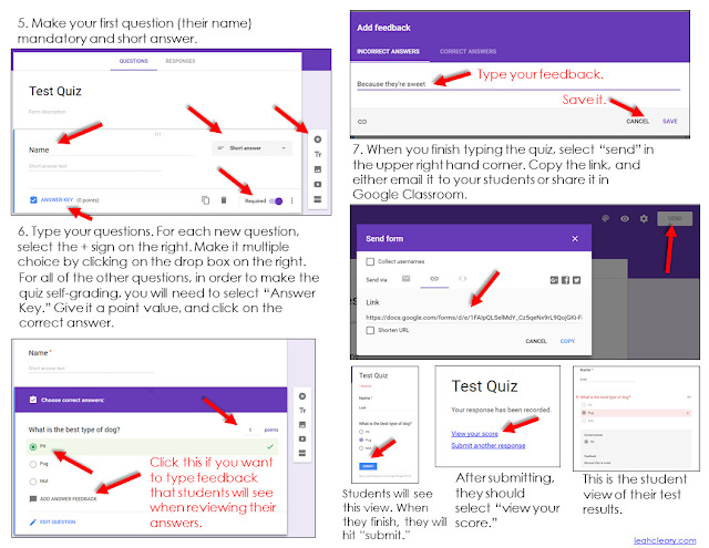 Google Forms now has a self-grading quiz feature! When I wrote about Google Forms in the past, you needed to have an add-on in order to make your quizzes in Google Classroom self-grading. However, Google Forms has updated since then, and now you can make your quizzes self-grading. In this blog post, I walk you through a step-by-step tutorial of how to set this up in your own Google Classroom!