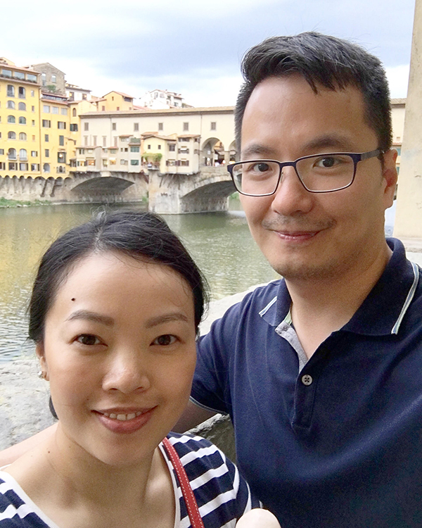 Selfie in front of the Ponte Vecchio