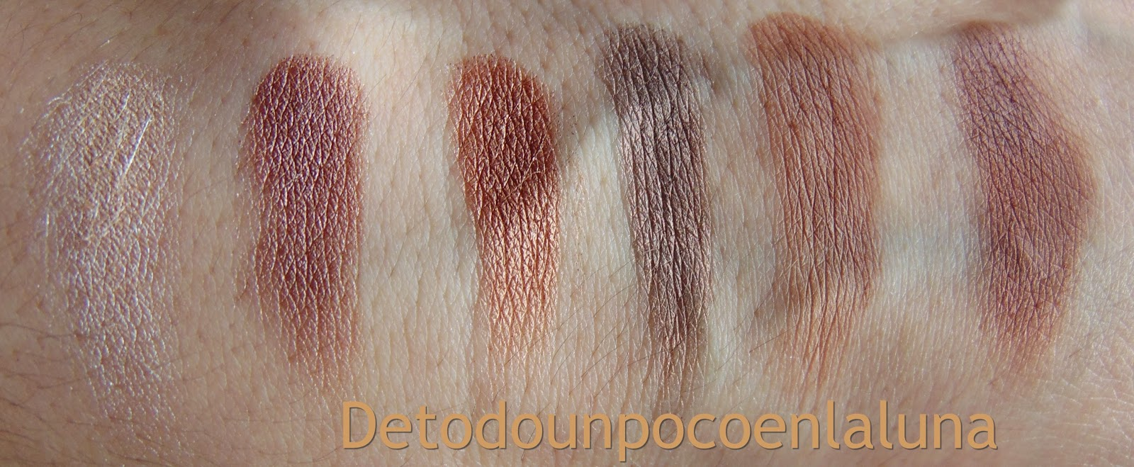 "swatches Paleta "" Naked Chocolate ""  de I heart Makeup"