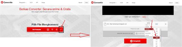 convertio - Cara Convert Halaman Web Menjadi Microsoft Word