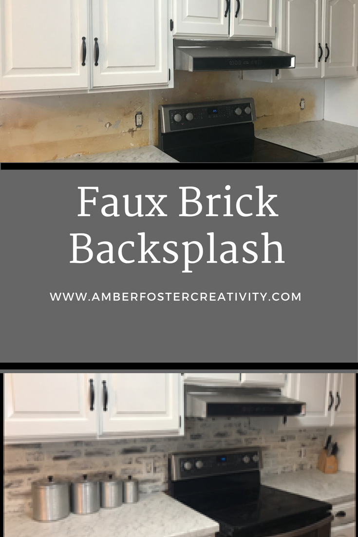 This faux brick technique can be used in any area of the home but today we will be using it to do a back splash its an easy inexpensive and gorgeous