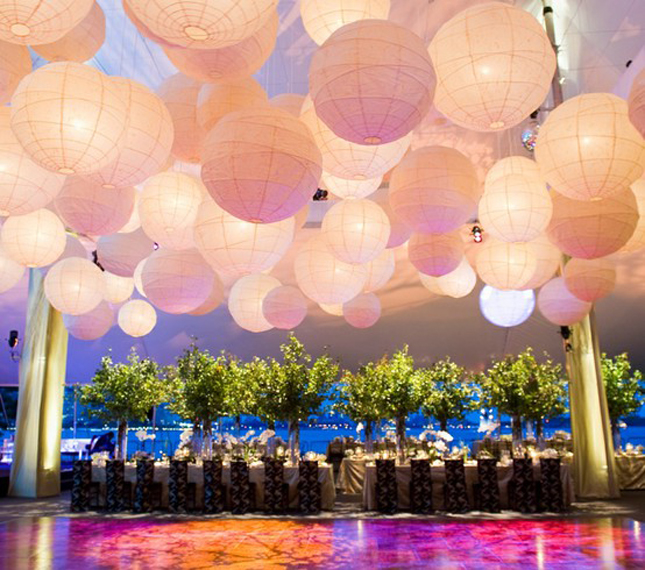 Paper Lanterns Wedding Decoration Ideas: {Wedding Trends} : Hanging Wedding Decor