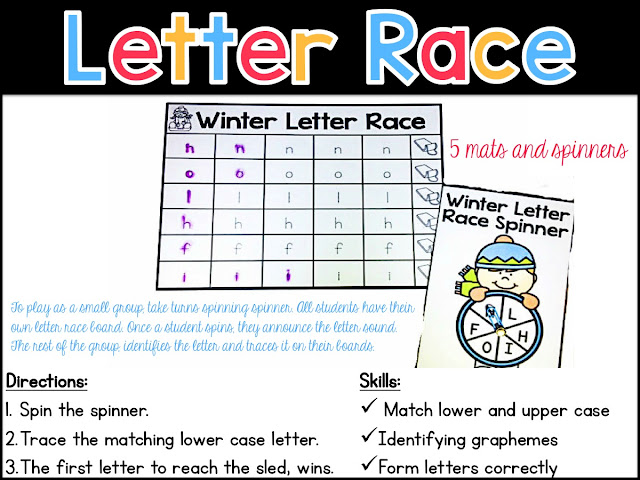 Alphabet Activities for Winter | Sarah's First Grade Snippets ...