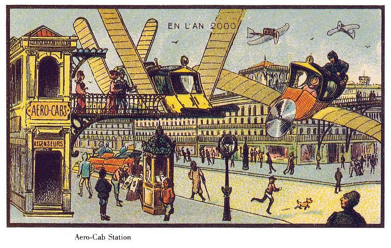 03-Air-Cab-Jean-Marc-Cote-En-L-An-2000-wikimedia-Futurism-with-Illustrated-Postcards-from-the-1900s-www-designstack-co