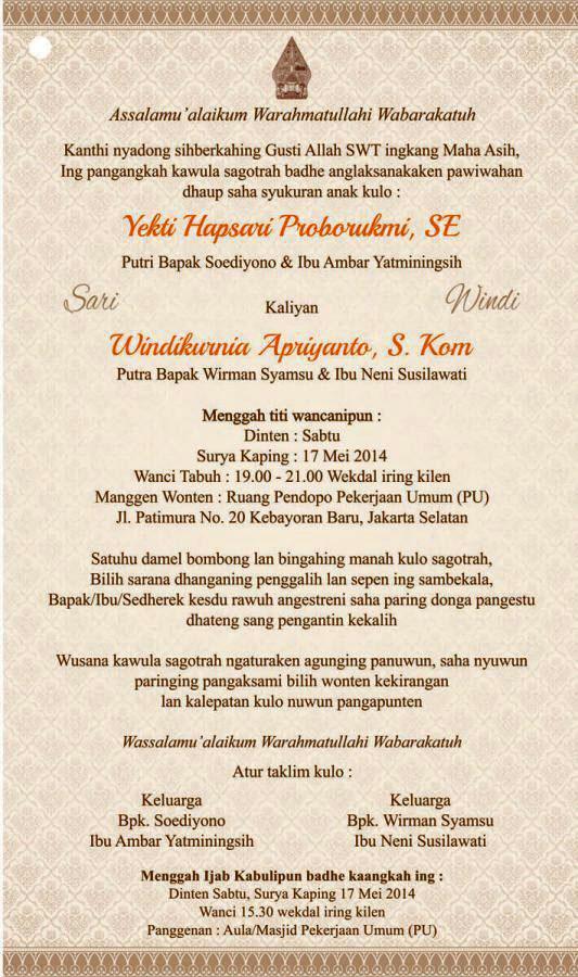 Contoh Surat Bahasa Jawa Krama Alus