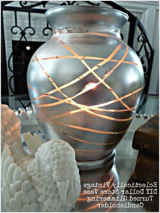 Креативный подсвечник из стеклянной вазы  Creative candlestick glass vase