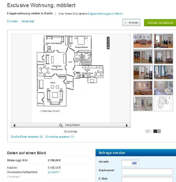 Mobliert Wohnung Berlin
