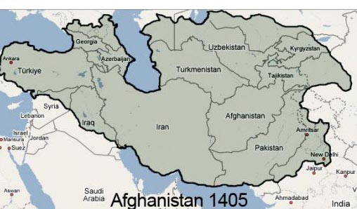 The -breadth of the Timurid Empire