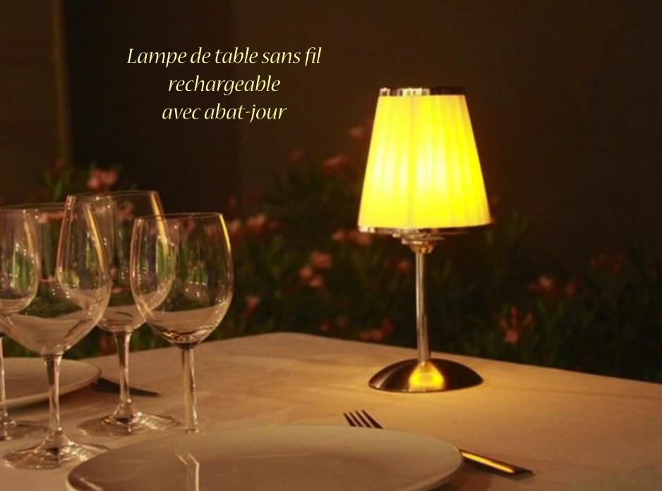 Midlightsun Lampes De Table Led Sans Fil Rechargeables Lampe De