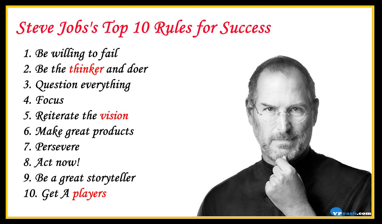 steve jobs s top 10 rules for success inspiring writer