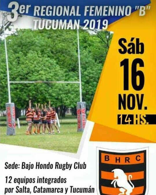 Bajo Hondo recibe el Regional B de rugby femenino