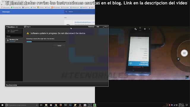 Asistente de configuración inicial Blackberry OS 10