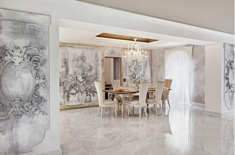 Boiserie c salotto e sala da pranzo di rappresentanza for Disposizione salotto sala pranzo
