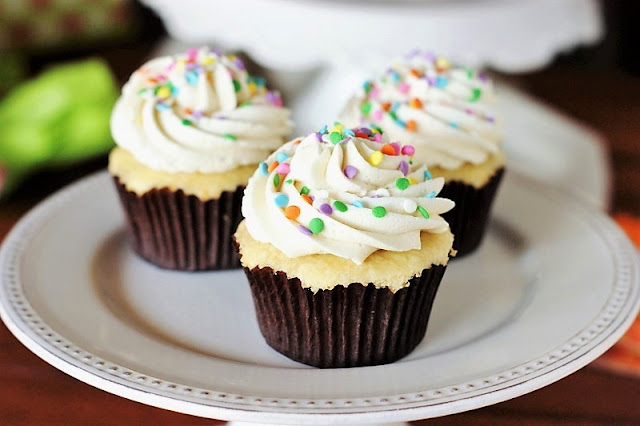 The Best Vanilla Cupcakes with the Best Vanilla Frosting picture