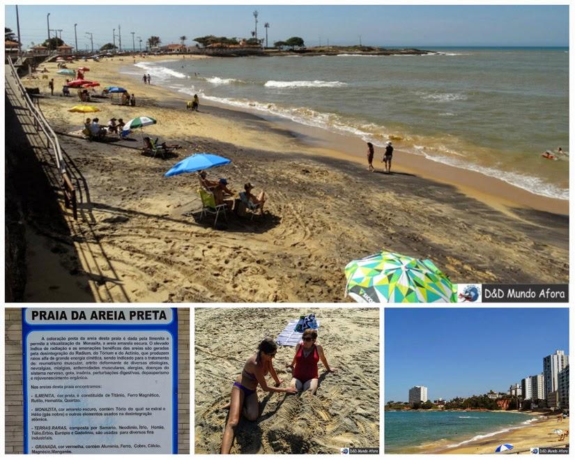 Praia da Areia Preta - o que fazer em Guarapari - Espírito Santo