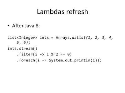 Java 8 forEach() example to loop over list