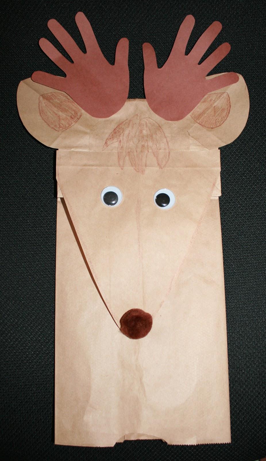 Reindeer Lunch Bag Classroom Freebies