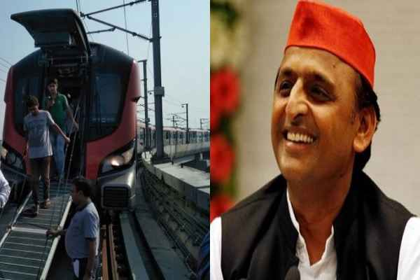 akhilesh-yadav-happy-as-lucknow-metro-technical-fault-first-day