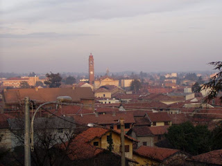 A view over the rooftops of Cassano Magnago